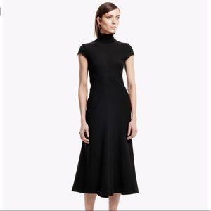 Theory Black Ponte Maxi Dress